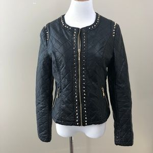 Forever 21 Studded Faux Leather Jacket